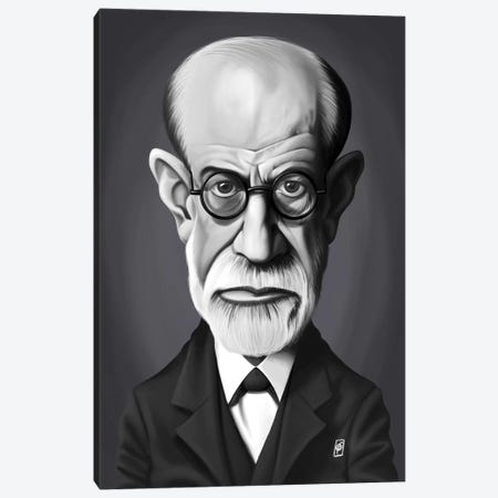 Sigmund Freud Canvas Print #RSW246} by Rob Snow Canvas Artwork
