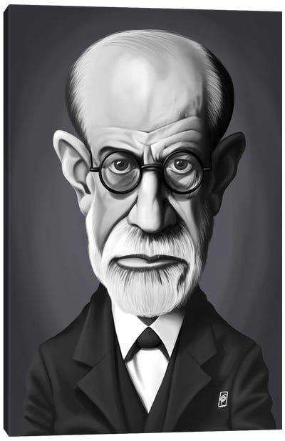 Vintage Celebrity Sunday Series: Sigmund Freud Canvas Print #RSW246