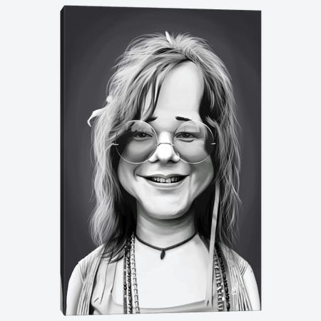 Janis Joplin Canvas Print #RSW249} by Rob Snow Canvas Print