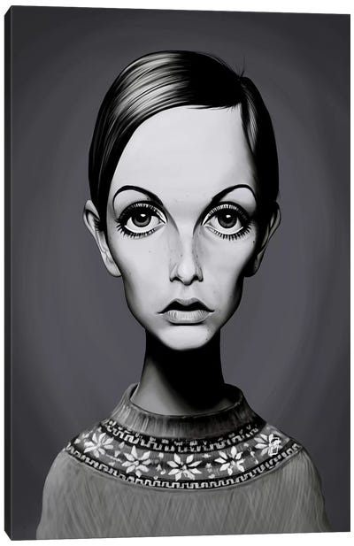 Twiggy (Lesley Lawson) Canvas Art Print