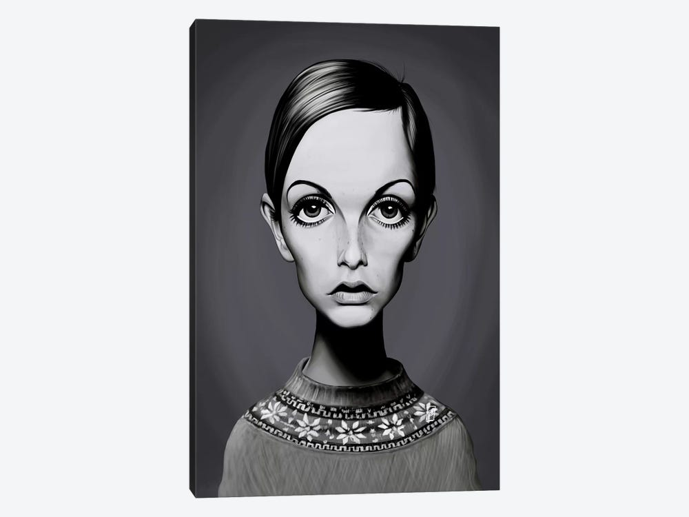Twiggy (Lesley Lawson) 1-piece Canvas Wall Art