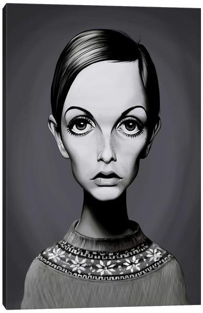Twiggy (Lesley Lawson) Canvas Art Print