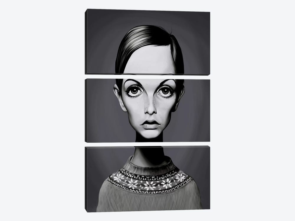 Twiggy (Lesley Lawson) by Rob Snow 3-piece Canvas Art