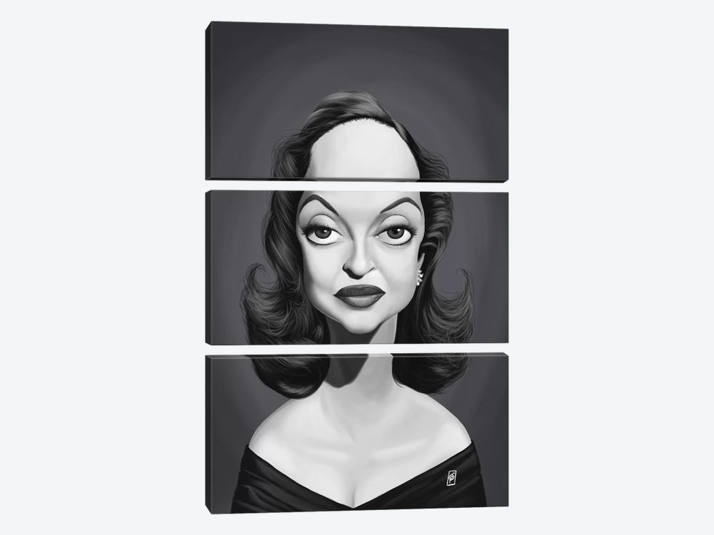 Bette Davis  by Rob Snow 3-piece Canvas Art