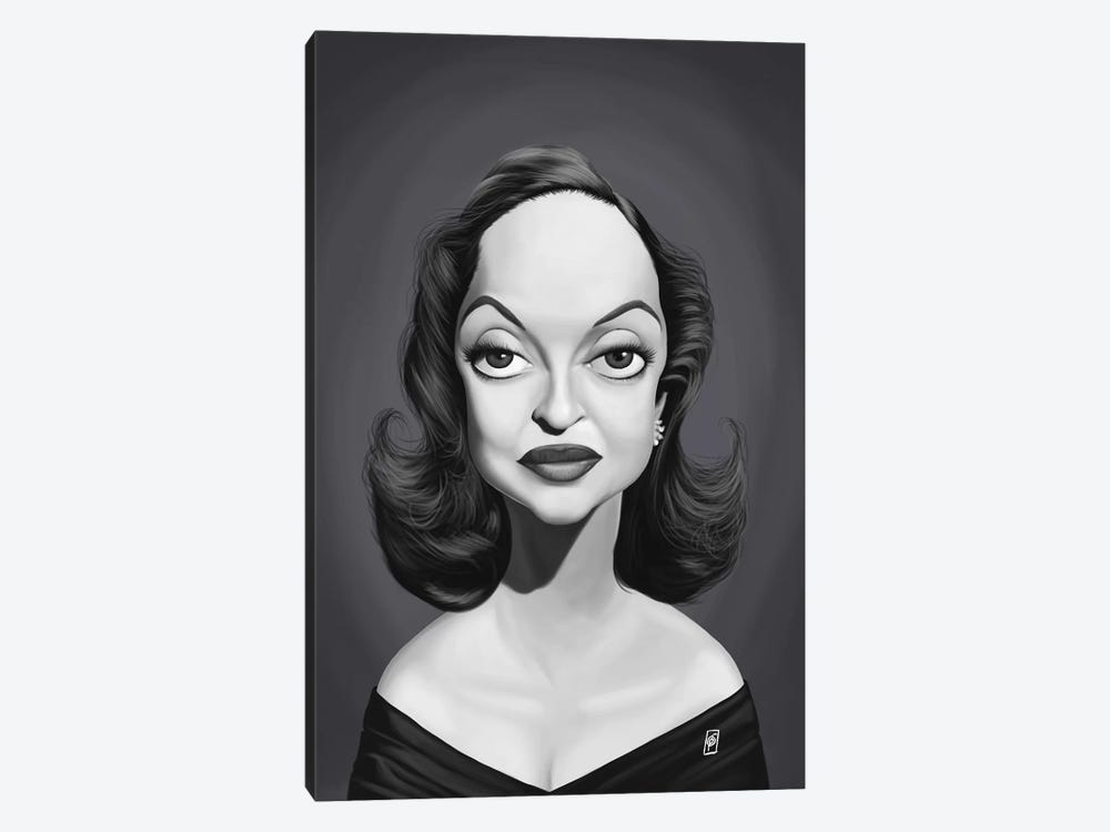 Bette Davis  by Rob Snow 1-piece Canvas Wall Art