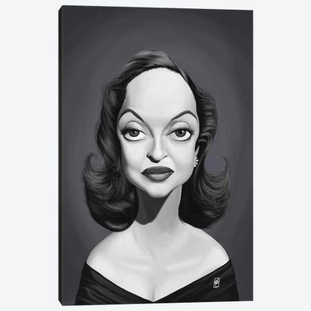 Bette Davis  Canvas Print #RSW255} by Rob Snow Art Print
