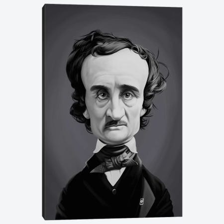 Edgar Allan Poe  Canvas Print #RSW258} by Rob Snow Canvas Wall Art