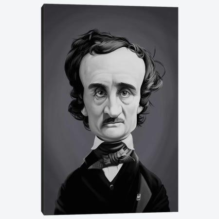 Edgar Allan Poe  Canvas Print #RSW258} by Rob Snow Canvas Wall Art