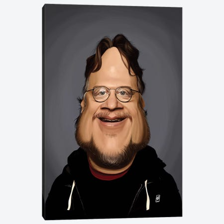 Guillermo del Toro  Canvas Print #RSW259} by Rob Snow Canvas Art