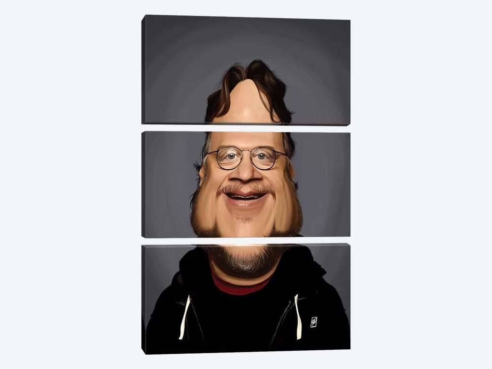 Guillermo del Toro  by Rob Snow 3-piece Canvas Artwork