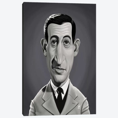 J.D. Salinger  Canvas Print #RSW261} by Rob Snow Canvas Print