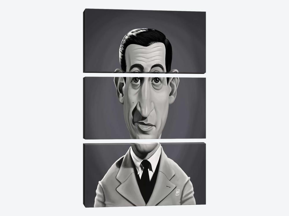 J.D. Salinger  by Rob Snow 3-piece Canvas Print