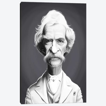 Mark Twain  Canvas Print #RSW263} by Rob Snow Canvas Print