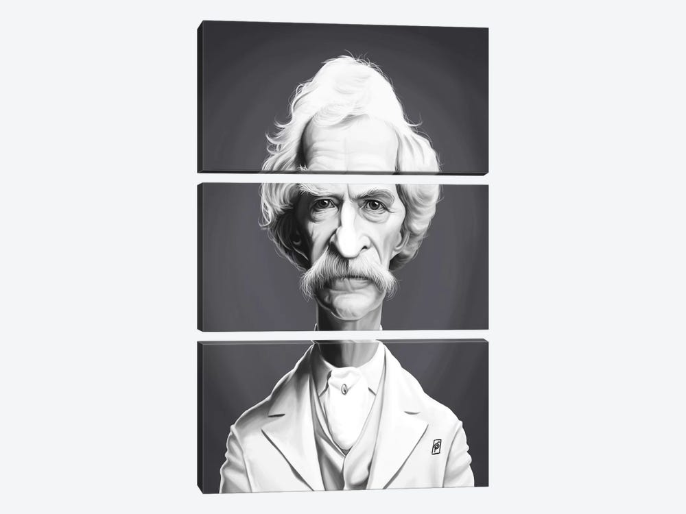 Mark Twain  by Rob Snow 3-piece Art Print