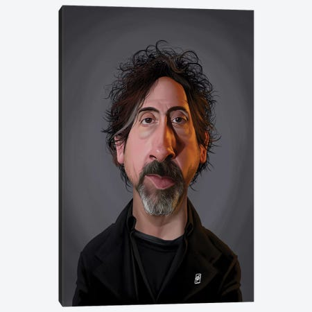 Tim Burton  Canvas Print #RSW265} by Rob Snow Canvas Artwork
