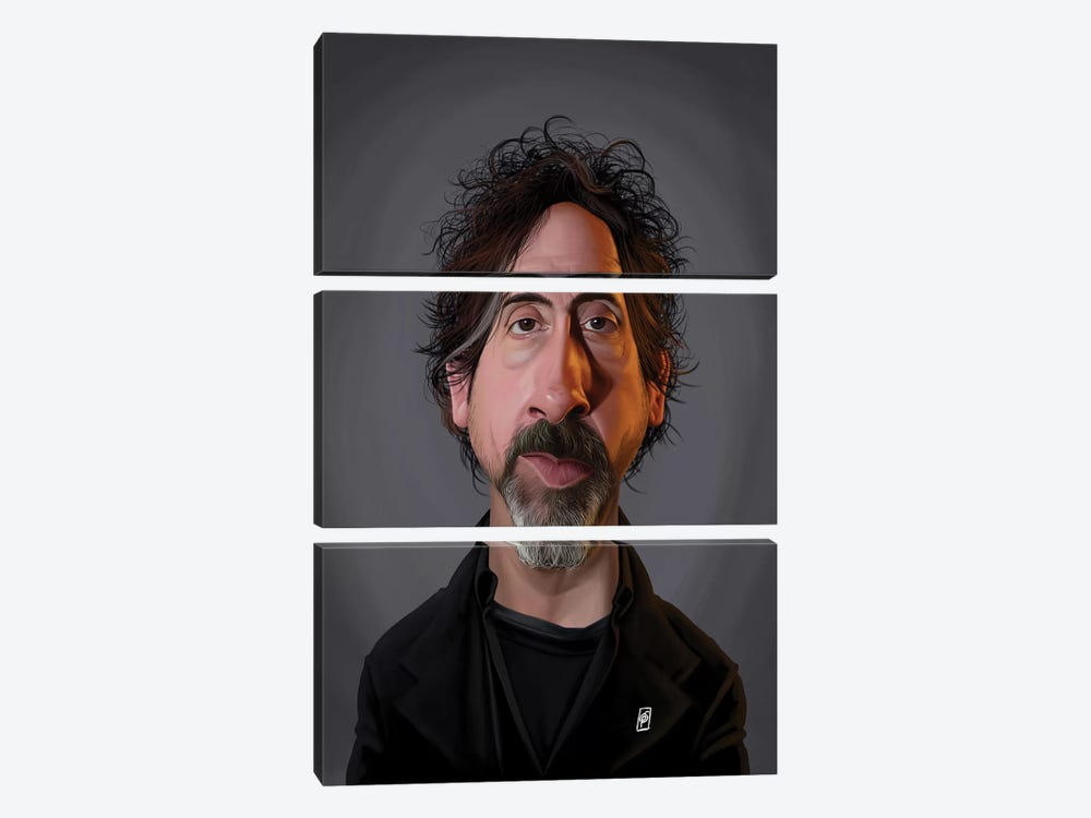 Tim Burton  by Rob Snow 3-piece Canvas Print