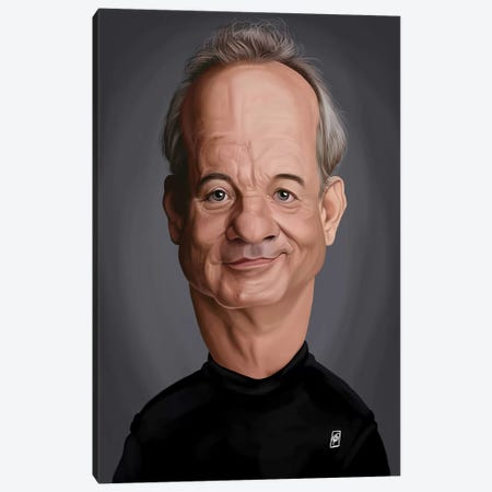 Bill Murray Canvas Print #RSW266} by Rob Snow Canvas Artwork