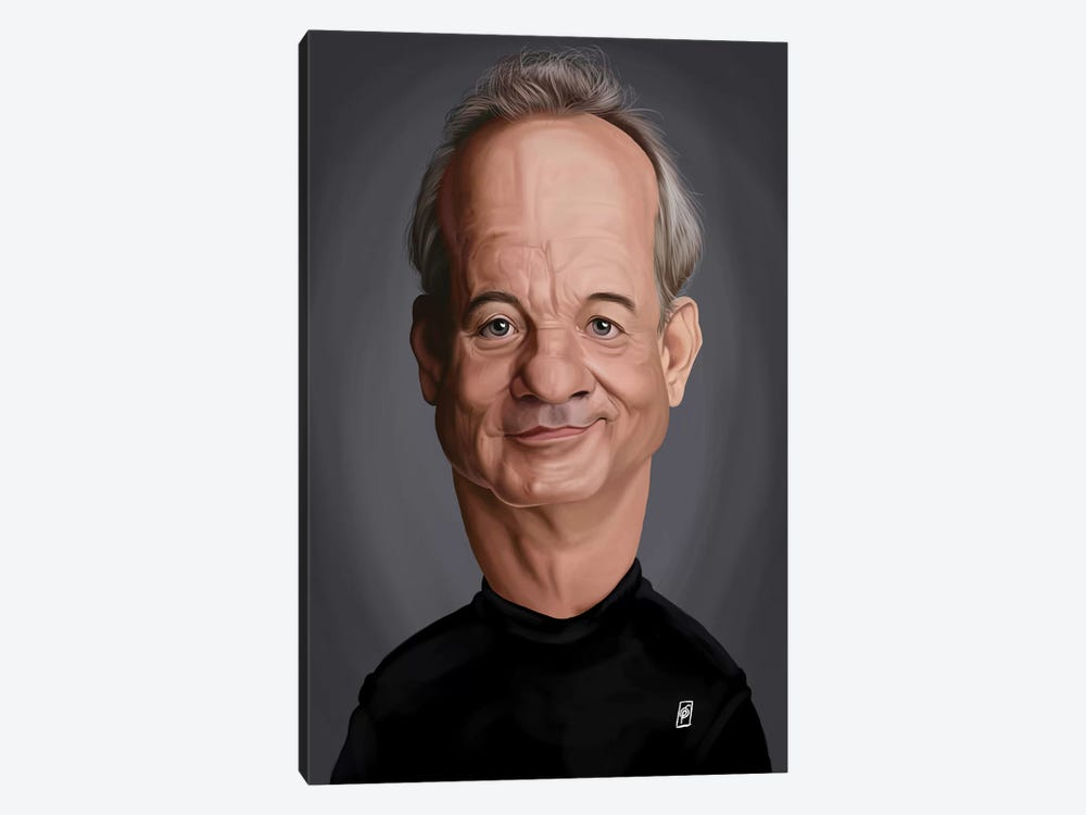 Bill Murray by Rob Snow 1-piece Canvas Wall Art