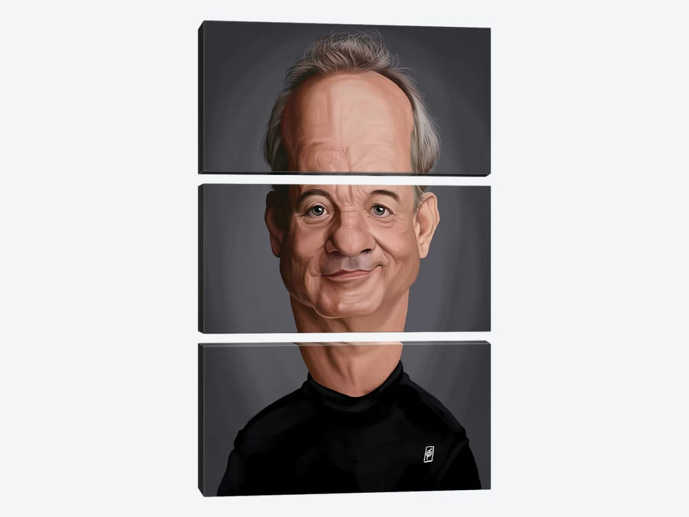 Bill Murray by Rob Snow 3-piece Canvas Art