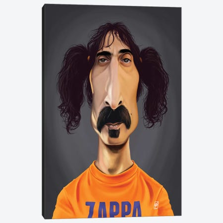 Frank Zappa Canvas Print #RSW267} by Rob Snow Canvas Wall Art