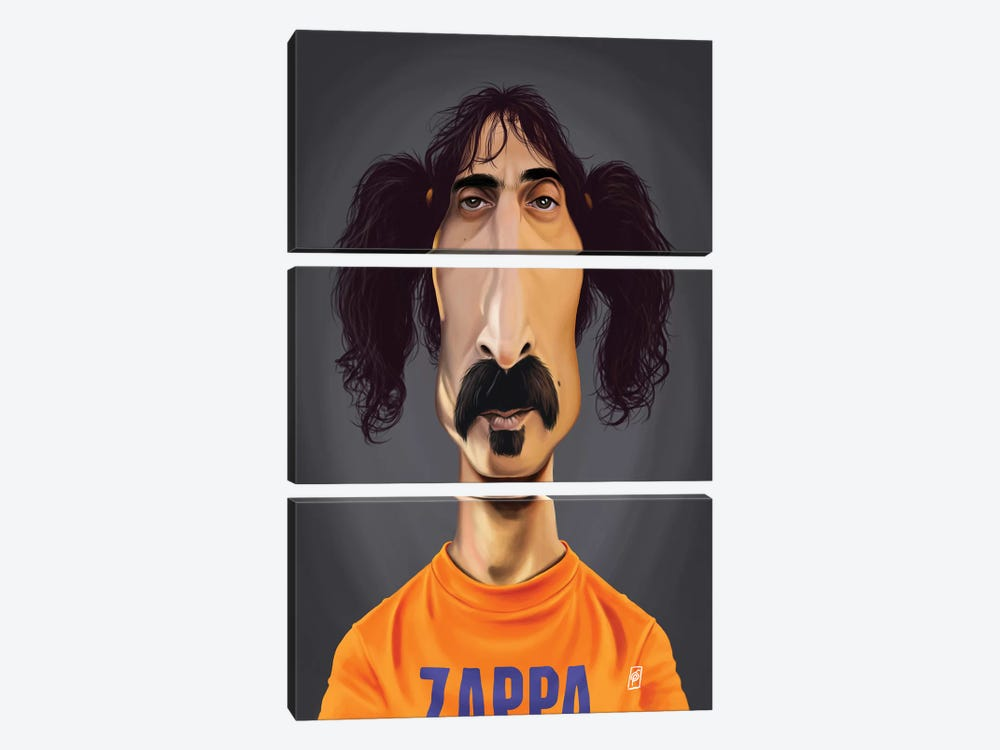 Frank Zappa by Rob Snow 3-piece Art Print