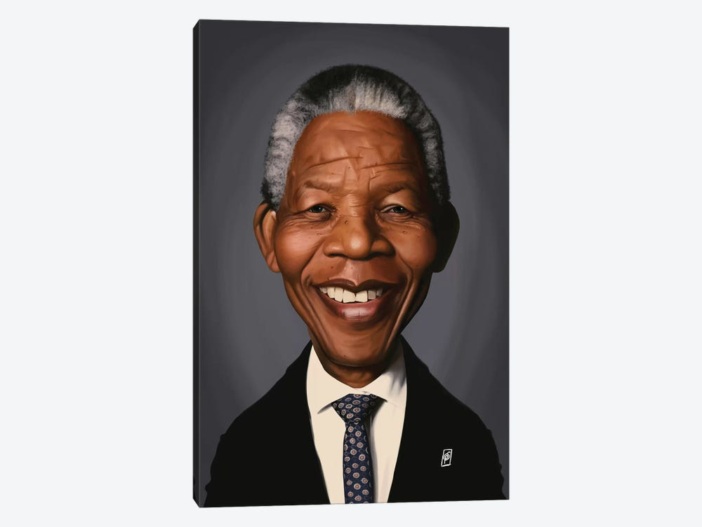 Nelson Mandela by Rob Snow 1-piece Canvas Art Print