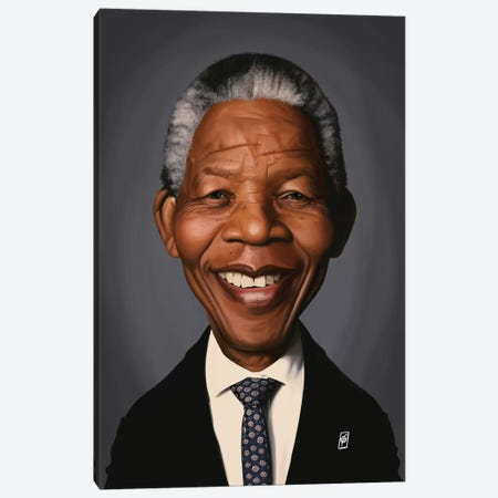 Nelson Mandela Canvas Print #RSW269} by Rob Snow Canvas Art Print