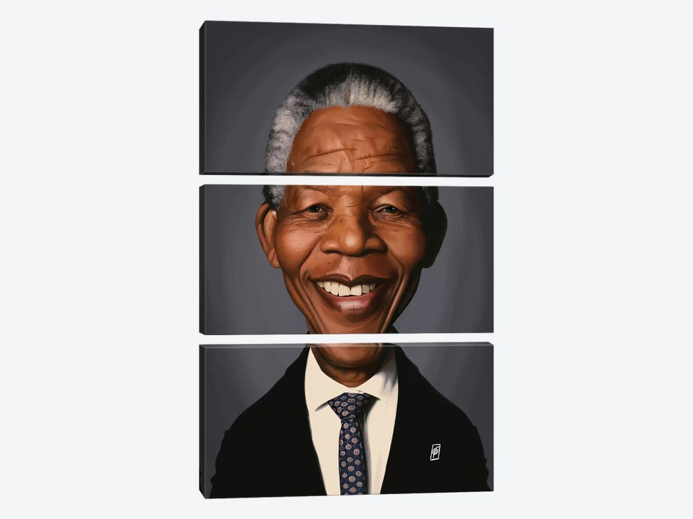 Nelson Mandela by Rob Snow 3-piece Canvas Print