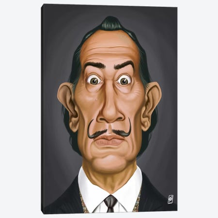 Celebrity Sunday Series: Salvador Dali I Canvas Print #RSW26} by Rob Snow Canvas Artwork