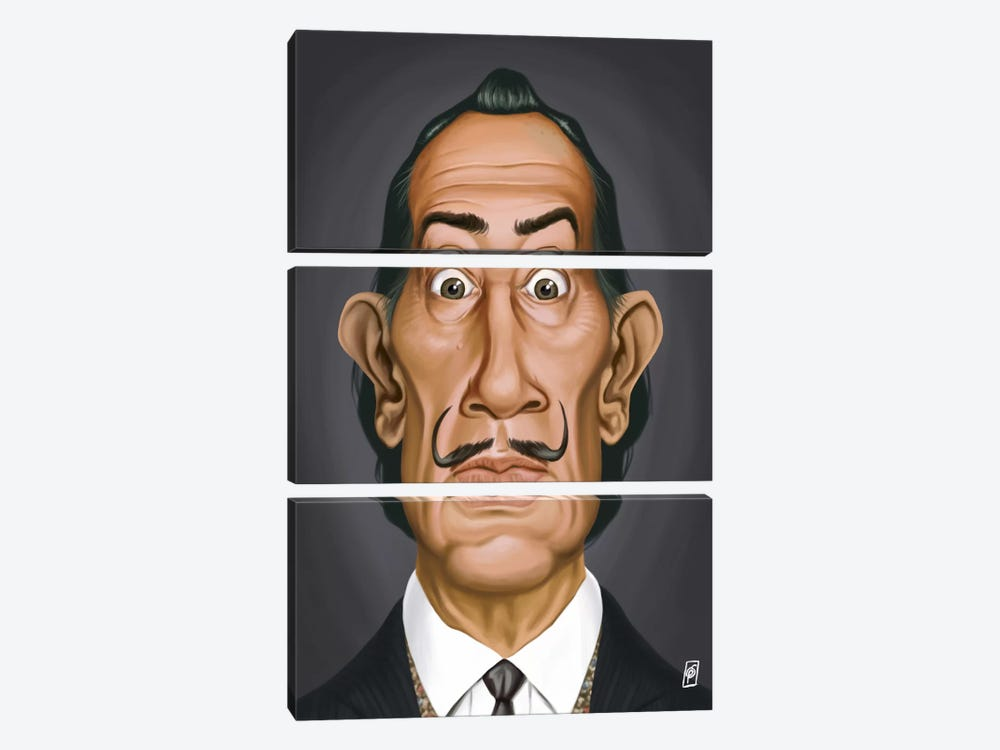 Salvador Dali I by Rob Snow 3-piece Canvas Print