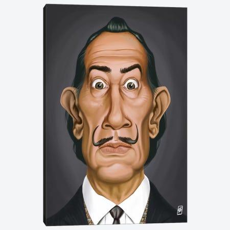 Salvador Dali I Canvas Print #RSW26} by Rob Snow Canvas Artwork