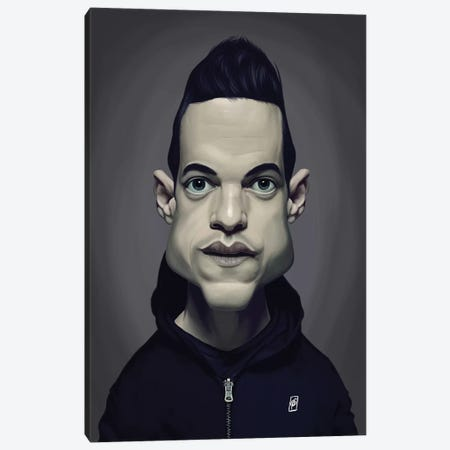 Rami Malek Canvas Print #RSW270} by Rob Snow Canvas Art