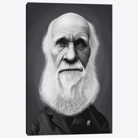 Charles Darwin Canvas Print #RSW274} by Rob Snow Canvas Art Print