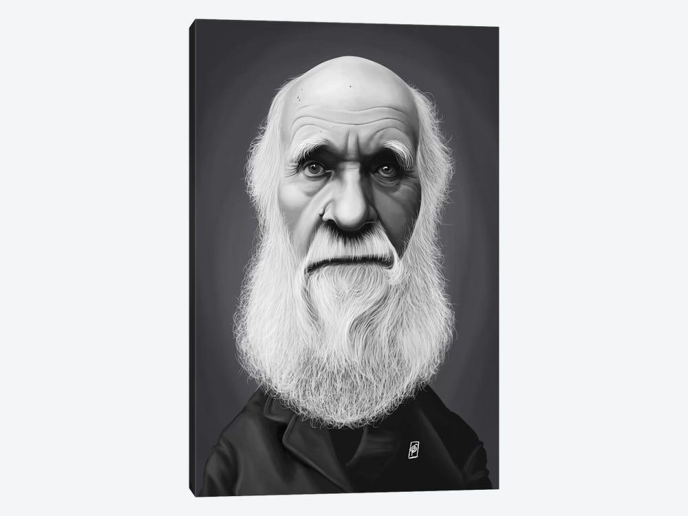 Charles Darwin by Rob Snow 1-piece Canvas Art Print