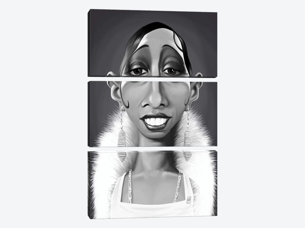 Josephine Baker by Rob Snow 3-piece Canvas Artwork