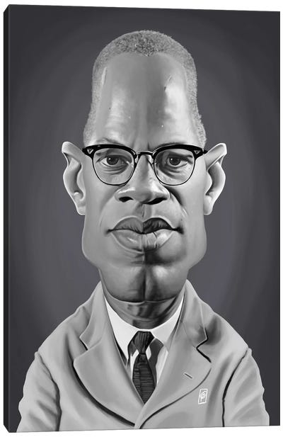 Malcolm X Canvas Art Print