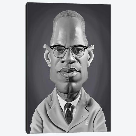 Malcolm X Canvas Print #RSW276} by Rob Snow Canvas Art Print