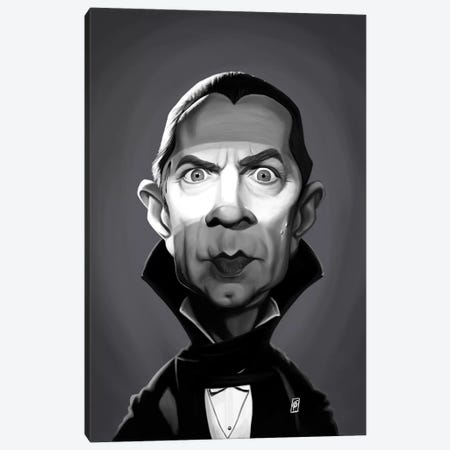 Bela Lugosi Canvas Print #RSW277} by Rob Snow Art Print