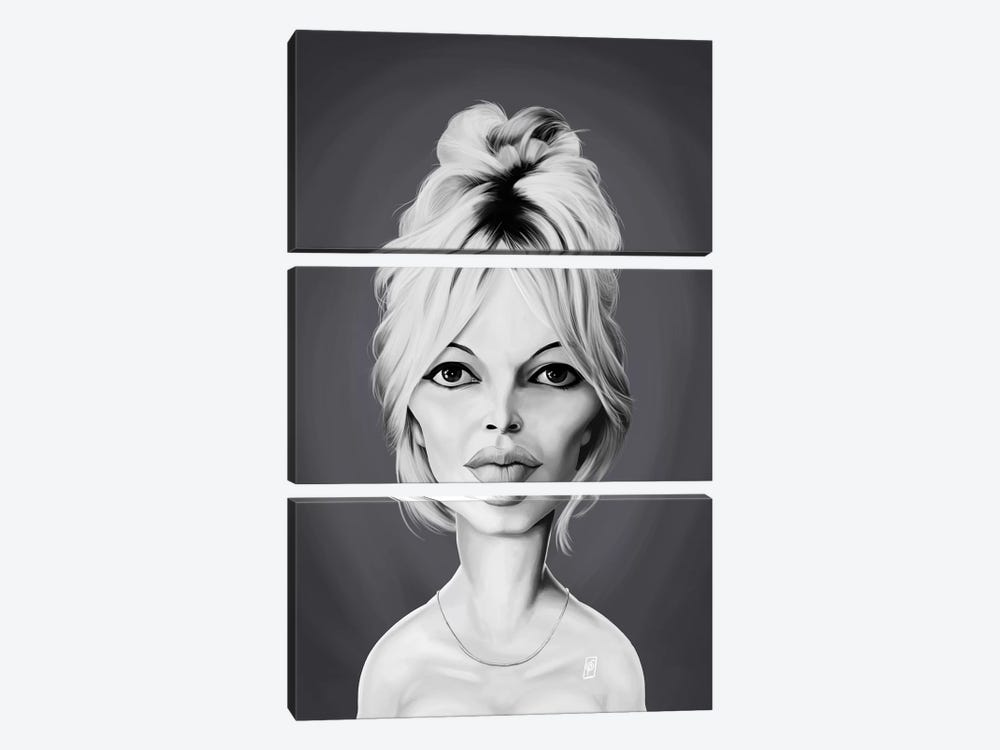Brigitte Bardot by Rob Snow 3-piece Canvas Print