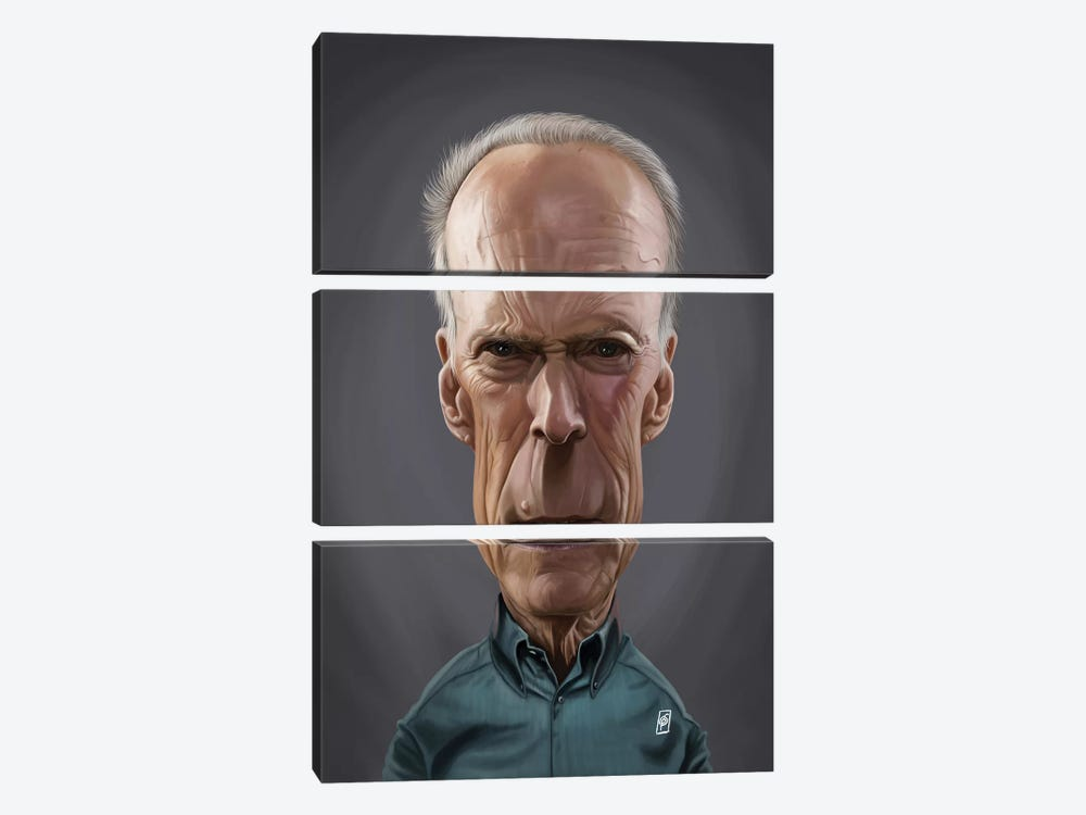 Clint Eastwood by Rob Snow 3-piece Art Print