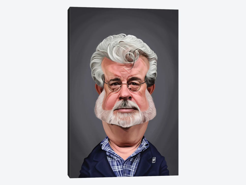 George Lucas by Rob Snow 1-piece Canvas Wall Art
