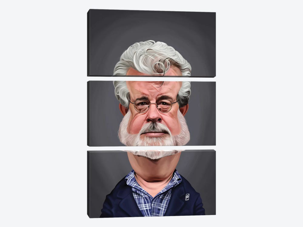 George Lucas by Rob Snow 3-piece Canvas Art