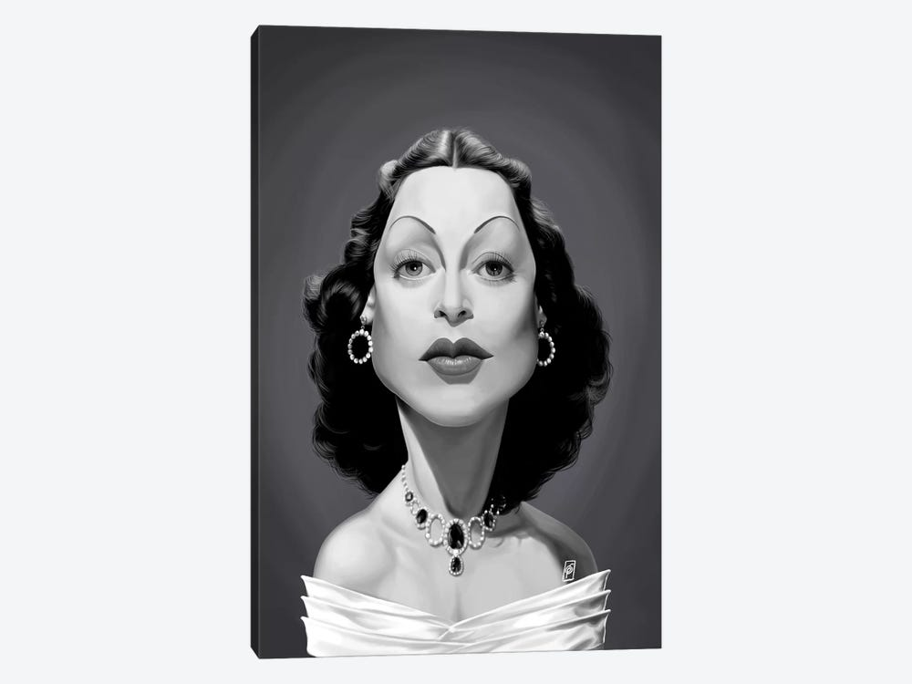 Hedy Lamarr by Rob Snow 1-piece Canvas Wall Art