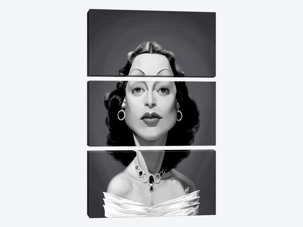 Hedy Lamarr by Rob Snow 3-piece Canvas Art