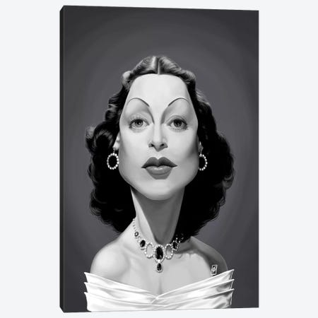 Hedy Lamarr Canvas Print #RSW284} by Rob Snow Canvas Wall Art
