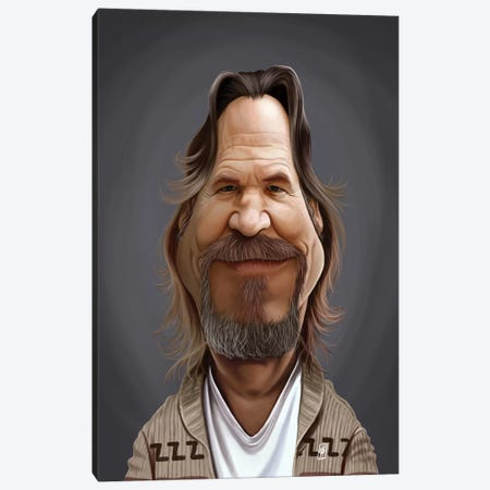 Jeff Bridges Canvas Print #RSW285} by Rob Snow Canvas Artwork