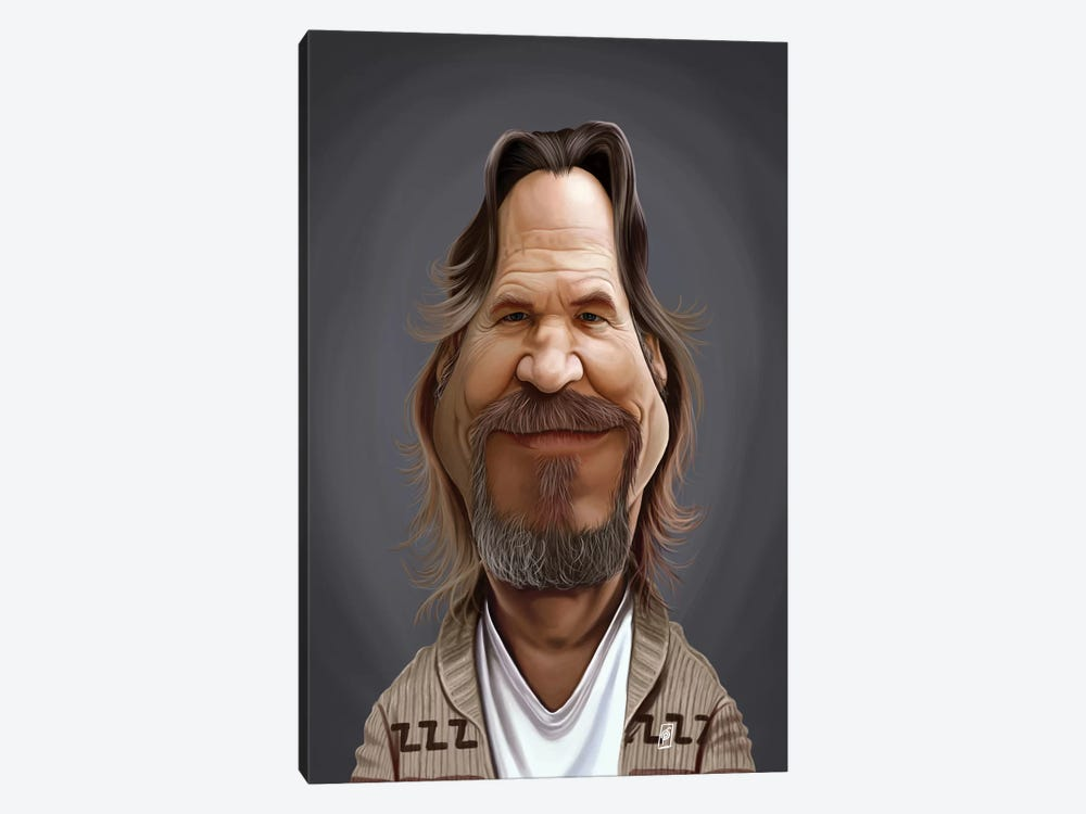 Jeff Bridges by Rob Snow 1-piece Canvas Print