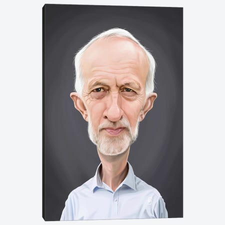 Jeremy Corbyn Canvas Print #RSW286} by Rob Snow Canvas Artwork