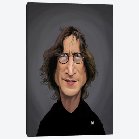 John Lennon Canvas Print #RSW287} by Rob Snow Canvas Wall Art