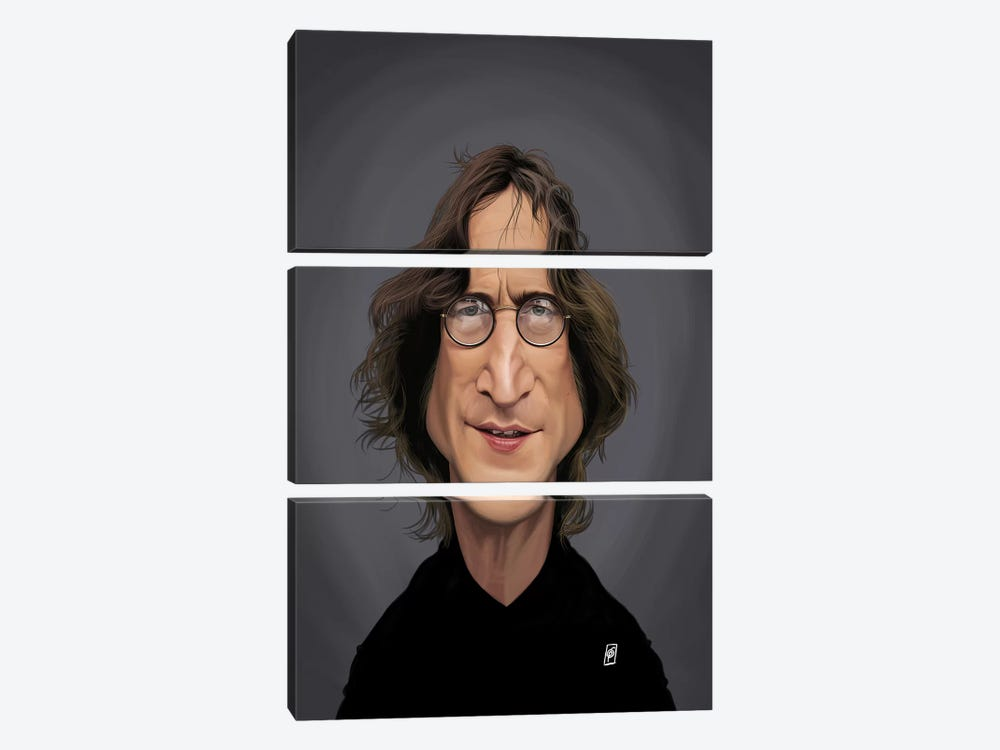 John Lennon by Rob Snow 3-piece Art Print